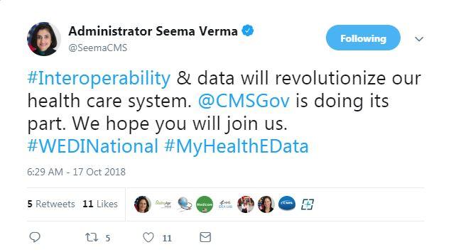 Seema Verma Tweet